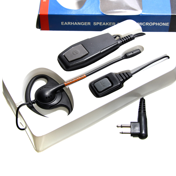Adjustable D Shape Earpiece boom mic for CP040