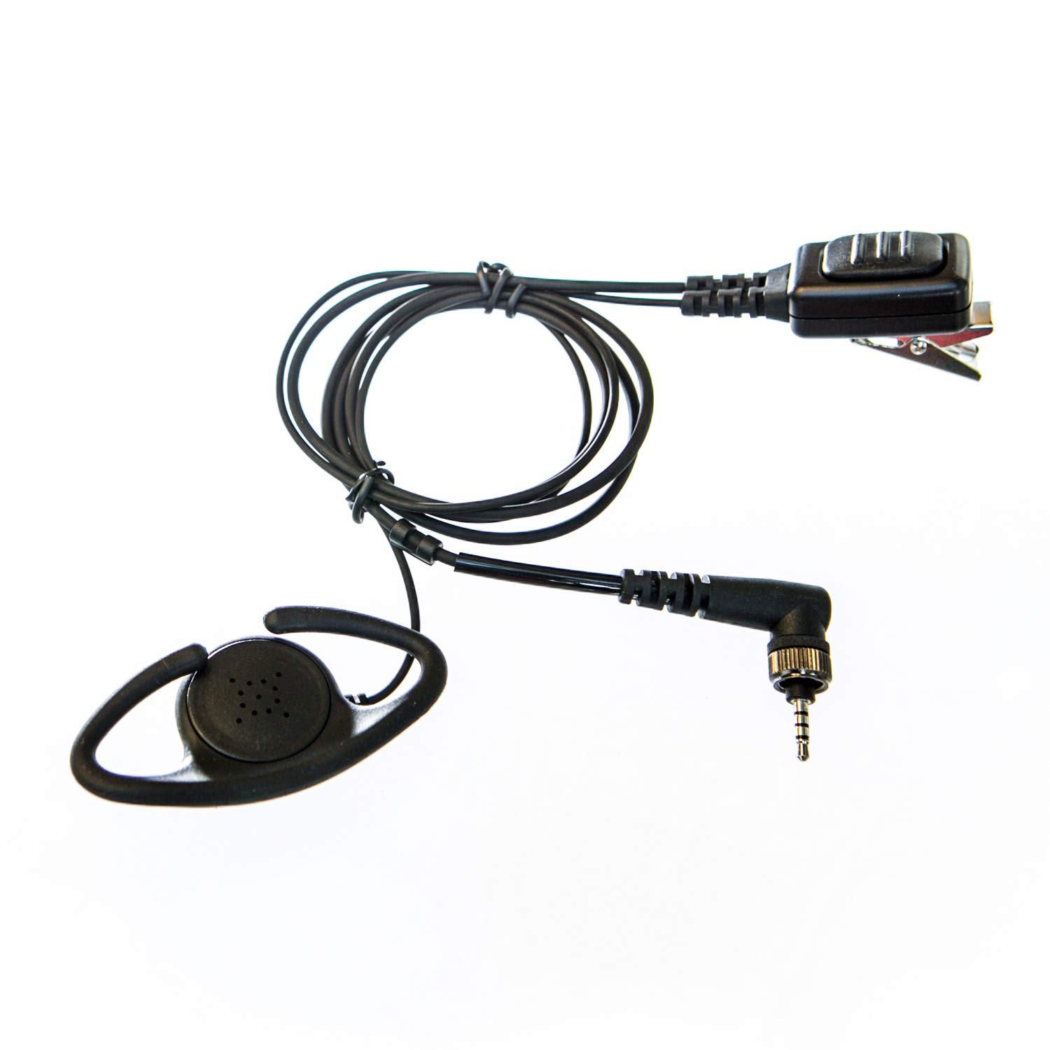 Adjustable D shape Earpieces with mic for Entel radio (single pin & screw)