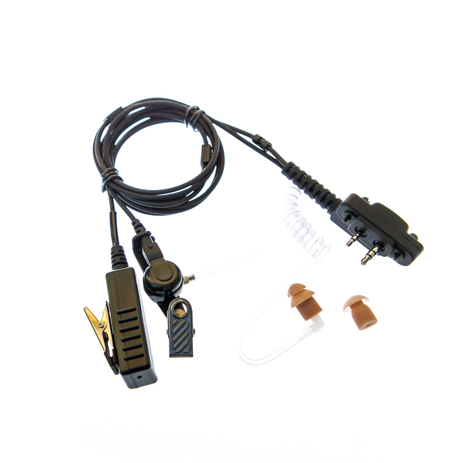 Earpiece Covert with mic for Icom radio (2 pin & 2 screws)