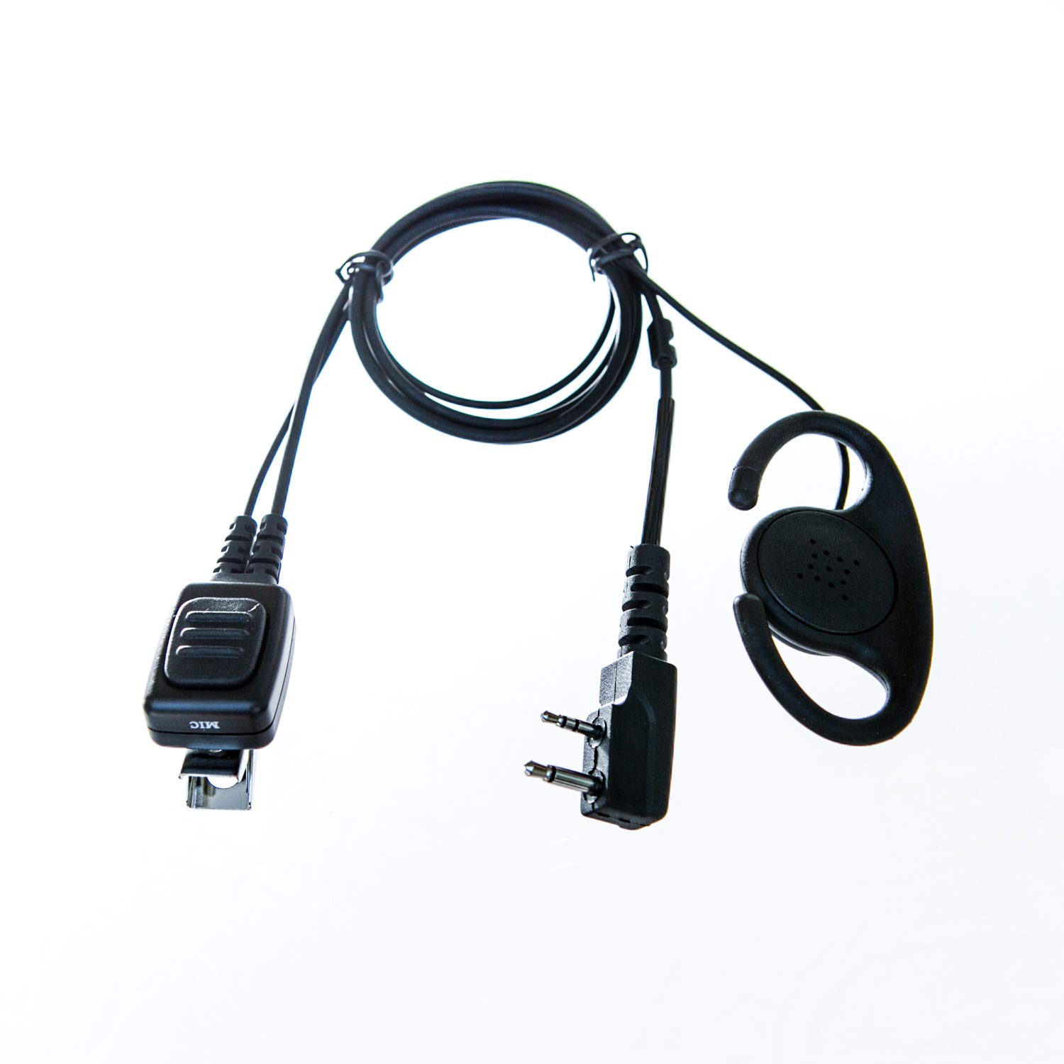 Adjustable D shape Earpiece  with mic for Icom radio (2 pin)
