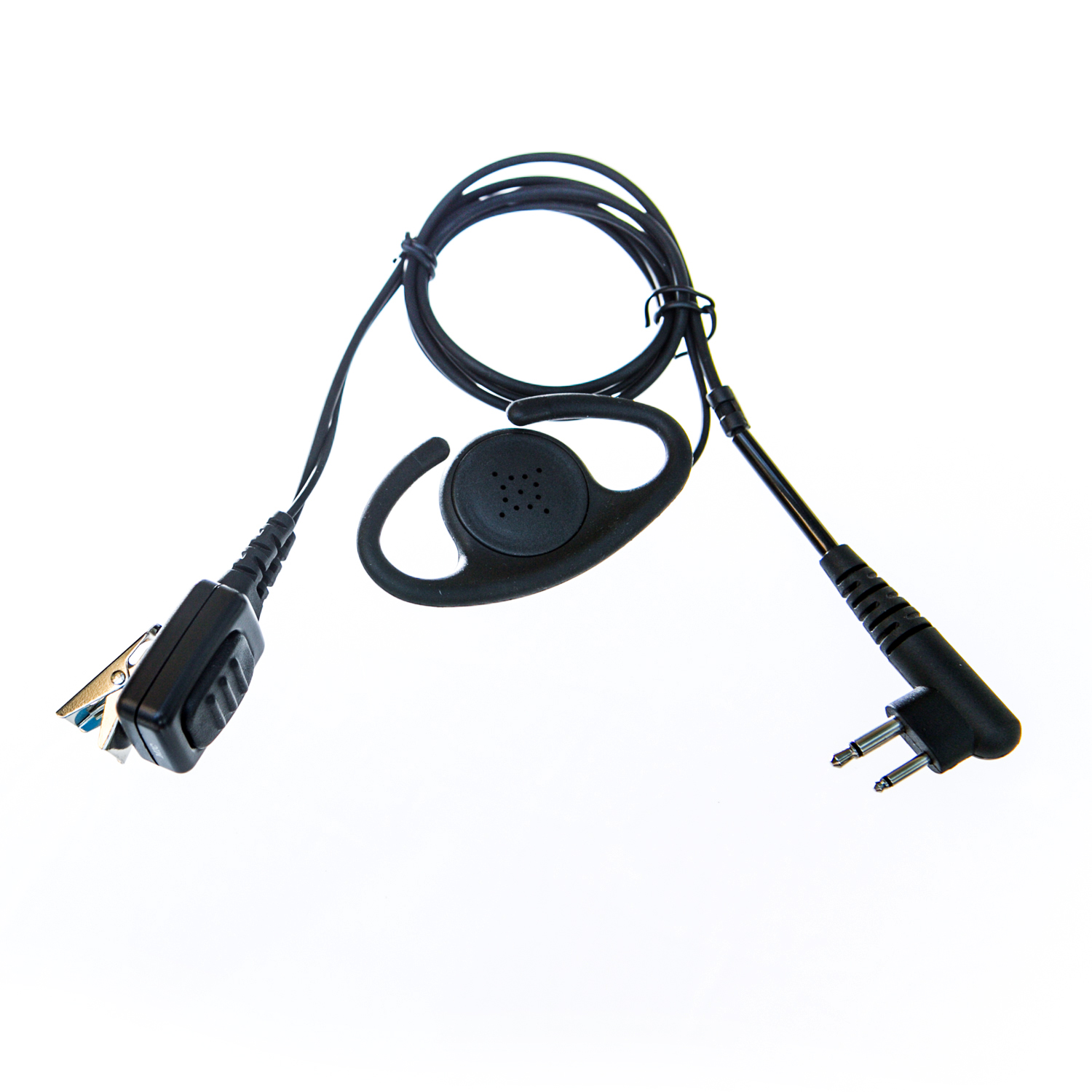 Adjustable D shape earpiece with mic for Hytera radio (2 pin)