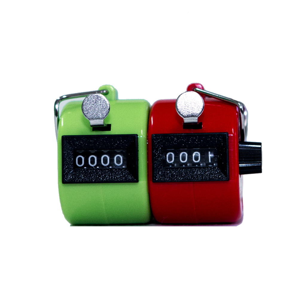 PLASTIC DOUBLE HAND TALLY COUNTERS - (RED AND GREEN)