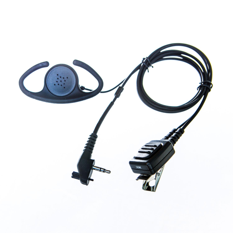 Adjustable D shape Earpiece with mic for Maxon radio (single pin & screw)